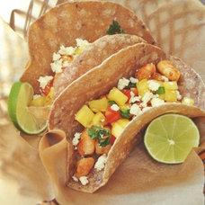 Chipotle Shrimp Tacos with Pineapple-Jalapeno Salsa + Cotija Cheese | okie dokie