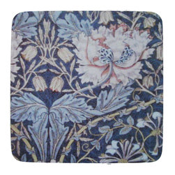Golden Hill Studio - William Morris # 4 Coaster, Set oif 4 - This is a wonderful antique print of William Morris on a super absorbent neoprene coaster.  Made, printed and assembled in the USA!