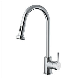 Vigo - VIGO VG02002CH Pull-Out Spray Kitchen Faucet - Faucet features a dual function pullout spray head for aerated flow or powerful spray
