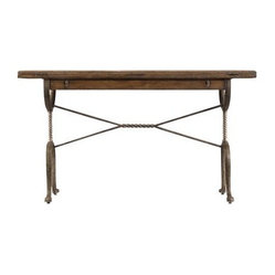 Stanley European Farmhouse Chivalry Split-Top Blond Writing Table