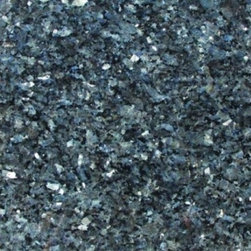 Tilesbay.com - Sample of 12X12 Polished Blue Pearl Granite Tile - Blue Pearl granite from Norway features shades of blues, grays and some beige. This durable granite is good for commercial and residential products and is an exceptional option for cladding of exterior walls.