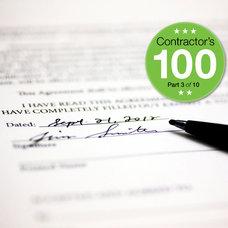 Contractor's 100: Part 3 of 10