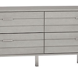 Concrete Low Dresser - This Concrete Low dresser has a cool, modern look and will be a piece that can grow with your little boy.