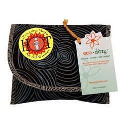 Eco Ditty Snack Bag - Let It Grow Brown - eco ditty is the award winning snack bag! The perfect size for snacking. Compact and easily adjustable to handle all varieties of snacks.