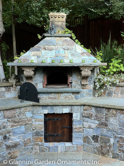 Mediterranean Outdoor Pizza Ovens by Giannini Garden Ornaments