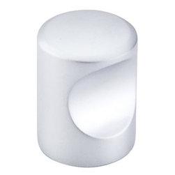"Top Knobs - Indent Knob 3/4"" - Aluminum - Length - 3/4"", Width - 3/4"", Projection - 15/16"", Base Diameter - 13/16"""