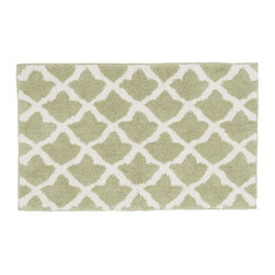 Marlo Bath Rug, Sage Green - This Moroccan-inspired pattern looks great in light green. Use it as a bathmat or in front of the kitchen sink.