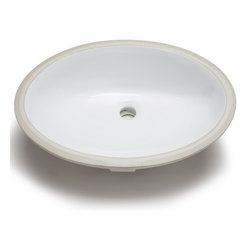 Hahn Hahn Ceramic Bathroom Large Oval Bowl Um White