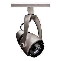 "Juno - Contemporary Juno Trac 12 Conix 50 Watt Wishbone Silver Track Head - Conical style track light head. Silver finish housing with black details. Steel and polycarbonate construction. Stylish wishbone yoke design. 90-degree vertical aiming; greater than 360-degree horizontal rotation. Locking screws secure lampholder during relamping. UL-listed CSA-certified. Includes one 50 watt MR16 bulb. 7"" high. Lamp head is 6 1/2"" wide 3 1/2"" high.  Conical style track light head.  Silver finish housing with black details.  Steel and polycarbonate construction.  Stylish wishbone yoke design.  90-degree vertical aiming; greater than 360-degree horizontal rotation.  Locking screws secure lampholder during relamping.  UL-listed CSA-certified.  Includes one 50 watt MR16 bulb.  7"" high.  Lamp head is 6 1/2"" wide 3 1/2"" high."