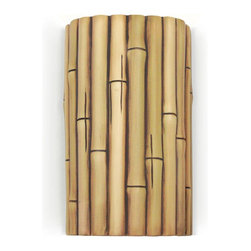 A19 Lighting - Bamboo Wall Sconce - Natural - Whether You Want To Inspire The Exotic, Island Fun Of A Tiki Bar Or The Cool Serenity Of A Spa, This Ceramic Bamboo Wall Sconce Will Set The Right Tone For Your Decor. The Cinnamon Finish Resembles A Dark Cherry Stain And Because It'S Gently Applied By Hand, No Two Will Be Identical. Open On Both Ends, Light Washes The Wall Adding To The Ambiance Of Any Setting Indoors Or Out.Height:9.5