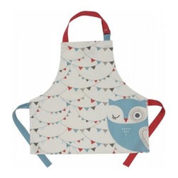Hoot Laminated Kids' Apron by Danica Studios - If kids are going to help in the kitchen, make it special and keep their clothes clean. This owl apron is made of laminated cotton for easy clean up — bonus!