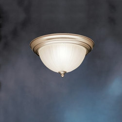 Kichler - Kichler 10864NI 2 Light Flush Mount Indoor Ceiling Fixture - Product Features: