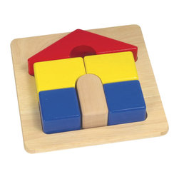 Guidecraft - Guidecraft Wooden Primary Puzzles House - Guidecraft - Puzzles - G2017 - The big chunky pieces of these colorful House Puzzle are easy for toddlers and preschoolers to group. Familiar objects with only 5-7 pieces per puzzle give children confidence.