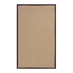 Chandra Rugs - Hand-woven Contemporary Sisal Rug - 2' x 3' - Brown - Hand-woven Contemporary Sisal Rug - BAYBRO - 2' x 3'