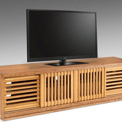 "FURNITECH - FT82WS- Furnitech - 82"" Contemporary Rustic TV Stand Media Console for Flat Screen and Audio Video Installations."
