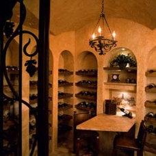 Mediterranean Wine Cellar by Diane Cabral Interiors