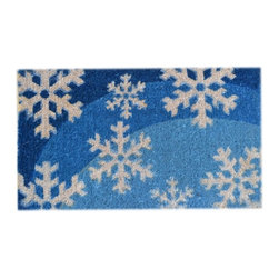 Imports D̩cor - Blue Flakes Door Mat (ID314BCM) - Blue Flakes