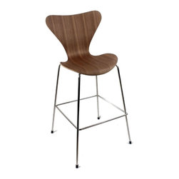 Lemoderno - Fine Mod Imports  Jays Bar Stool, Natural - Jay Bar Stool is great for homes and business use. With its simple shape the chair is sure to provide great comfort wherever used.     Assembly Required