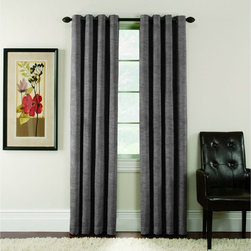 Arlee Home Fashions - Arlee Home Fashions Antique Slub Velvet Blackout Grommet Panel Pair - 29-41471SI - Shop for Curtains and Drapes from Hayneedle.com! Add a luxurious touch to your home with the beautiful Arlee Home Fashions Antique Slub Velvet Blackout Grommet Panel Pair. Crafted from 50% polyester and 50% viscose these panels are made with chenille yarns which give the appearance of hand woven fabric. Designed for practicality as well as style these curtains lower your home heating and cooling costs by up to 25% and also blocks out 99% of the light and up to 40% more noise than regular curtains. The grommets on these curtains make them easy to hang on any decorative curtain rod. Beautiful and sophisticated these curtains are the perfect way to finish any room. Additional Features Lowers home heating and cooling costs Lowers costs by up to 25% Blocks out 99% of outside light Blocks up to 40% more noise About Arlee Home FashionsArlee Home Fashions Inc. manufactures and markets household textiles like decorative pillows chair pads floor cushions curtains table linens and pet beds. The company was incorporated in 1976 and is based in New York New York.