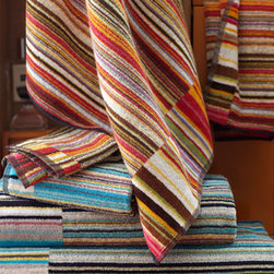 "Missoni Home - Missoni Home Jazz Bath Sheet - Towels from Missoni Home feature bright stripes and thirsty cotton terry. They're finished with a black and white dobby and binding. Plush cotton, with terry loops and a velour terry border. Bath towel, 27""W x 45""L. Bath sheet, 39""W x 59""L. Hand...."