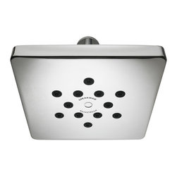 Speakman - Rainstream Square Showerhead, Polished Chrome - The heavy, drenching streams that flow from the Speakman Rainstream Modern Square Rain Shower deliver rainforest-like precipitation that would make even Mother Nature herself green with envy. Subdue your senses with 12 patented Speakman Rainstream spray nozzles that produce 96 individual flood-soaking currents. The durable, all metal construction ensures that no matter what the weatherman forecasts, your morning monsoon will never be interrupted.