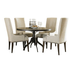 Magnussen - Magnussen Rothman Set of 2 Upholstered Chair in Warm Stained - Magnussen - Dining Chairs - D250363 - This set of upholstered chairs from the Walton collection can add a captivating touch to your dining room layout. It features a dark brown poplar wood construction, that is beautifully complemented by light beige upholstery. Stylish and comfortable half-arms are designed at a low level of the seat for easy use under any table. Enhancing the beauty and unique charm of this set is Rothman upholstery that's beautifully woven across the surface of the comfy seat. Orchre stained parson's legs lend a lavish touch to the chair's amazing style.