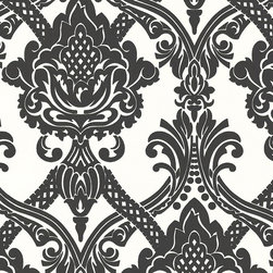 AS Creation - 554949 Black and White Wallpaper, Double Roll - Wallpaper accent wall is a new trend and we at Designers Wallpaper have a solution - modern and stylish non-woven wallpaper from leading European designers for any taste and styles to choose from