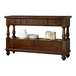 Riverside Furniture - Riverside Furniture Newburgh Server in Antique Ginger - Riverside Furniture - Buffet Tables and Sideboards - 37456