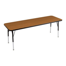 ECR4KIDS - ECR4KIDS 24 x 72 in. Rectangular Adjustable Activity Table - ELR-14109-OKBK-SB - Shop for Childrens Tables from Hayneedle.com! About Early Childhood ResourcesEarly Childhood Resources is a wholesale manufacturer of early childhood and educational products. It is committed to developing and distributing only the highest-quality products ensuring that these products represent the maximum value in the marketplace. Combining its responsibility to the community and its desire to be environmentally conscious Early Childhood Resources has eliminated almost all of its cardboard waste by implementing commercial Cardboard Shredding equipment in its facilities. You can be assured of maximum value with Early Childhood Resources.