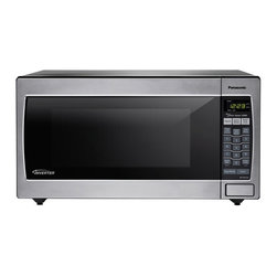 Panasonic - 1250W, 2.2 Cu Ft. Sensor, Stainless Front and Silver Body, Flat P - The Panasonic NN-SN952S 2.2 Cu. Ft. 1250W Genius Sensor Microwave Oven with Inverter Technology is perfect for the countertop or built-in installation. Unlike other microwave ovens, Inverter technology delivers a seamless stream of cooking power, even at lower settings, for precision cooking that preserves the flavor and texture of your favorite foods. With Inverter, you can poach, braise and even steam more delicate foods, all with the speed and convenience of a microwave! With the touch of our Genius Sensor cooking button, this microwave takes guesswork out of creating a great meal by automatically setting power levels and adjusting cooking or defrosting time. The sensor measures the amount of steam produced during cooking and signals the microprocessor to calculate the remaining cooking time at the appropriate power level. Plus with Turbo Defrost, you can thaw foods faster than ever!