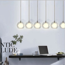 JollyHome - JollyHome Distinctive Ball Shape Chandeliers with 6 Lights - 220V / Material: glass.Requiring G4 halogen lmap 10W (free).Good for home and commercial decoration.Suitable for dining room, bar,etc