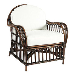 Madeira Chair, Rustic Brown - I love this chair. The rattan is so great looking. It would be so pretty on a porch, but equally pretty inside as well.