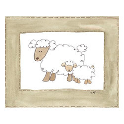 Oh How Cute Kids by Serena Bowman - More Vintage Sheep, Ready To Hang Canvas Kid's Wall Decor, 16 X 20 - Every kid is unique and special in their own way so why shouldn't their wall decor be so as well! With our extensive selection of canvas wall art for kids, from princesses to spaceships and cowboys to travel girls, we'll help you find that perfect piece for your special one.  Or fill the entire room with our imaginative art, every canvas is part of a coordinating series, an easy way to provide a complete and unified look for any room.