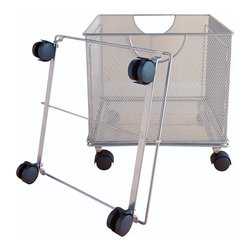 Design Ideas - File Box Dolly - Silver - Add a Dolly to your File Box Organizer and your office will become an organization station.