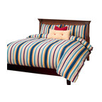 SIS Covers - SIS Covers Seaside Stripe Nautical Duvet Set - 6 Piece California King Duvet Set - 5 Piece Twin Duvet Set Duvet 67x88, 1 Std Sham 26x20, 1 16x16 dec pillow, 1 26x14 dec pillow. 6 Piece Full Duvet Set Duvet 86x88, 2 Std Shams 26x20, 1 16x16 dec pillow, 1 26x14 dec pillow. 6 Piece Queen Duvet Set Duvet 94x98, 2 Qn Shams 30x20, 1 16x16 dec pillow, 1 26x14 dec pillow. 6 Piece California King Duvet Set Duvet 104x100, 2 King Shams 36x20, 1 16x16 dec pillow, 1 26x14 dec pillow6 Piece King Duvet Set Duvet 104x98, 2 Kg Shams 36x20, 1 16x16 dec pillow, 1 26x14 dec pillow. Fabric Content 1 100 Cotton. Guarantee Workmanship and materials for the life of the product. SIScovers cannot be responsible for normal fabric wear, sun damage, or damage caused by misuse. Care instructions Machine Wash. Features Reversible Duvet and Shams.