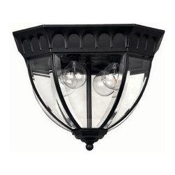 Hinkley Lighting - Hinkley Lighting 1712BK Camelot 4-Light Outdoor Flush Mounts in Black - Hinkley Lighting 1712BK Camelot 4-Light Outdoor Flush Mounts in Black