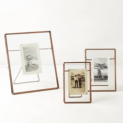 Pressed Glass Photo Frame, Copper - These pictures frames are so incredibly unique.