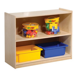 Steffywood - Steffywood Kids Play Toys Books Small Mini Shelf Storage Display Rack Stand - Two shelf storage unit is perfect for books, puzzles and general supplies.  Sturdy dowel construction.
