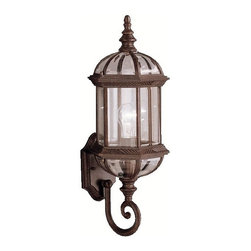 Kichler Lighting - KICHLER 9736TZ New Street Transitional Outdoor Wall Sconce - With its timeless profile, this 1-light wall lantern is perfect for those looking to embellish classic sophistication outdoors. Because it is made from cast aluminum and comes in this beautiful Tannery Bronze finish, this wall lantern can go with any home décor while being able to withstand the elements. U.L. listed for wet location.