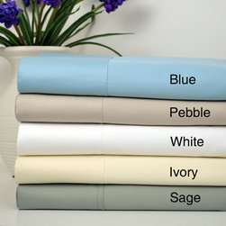 None - Cotton Sateen 400 Thread Count Sheet Set with Bonus Pillowcases (6-piece set) - Sleep in comfort and style with this luxurious 400 thread count cotton sateen sheet set. These sheets are available in your choice of four colors to complement bedding.