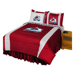 Store51 LLC - NHL Colorado Avalanche Comforter Pillowcase Hockey Bedding, Twin - Features:
