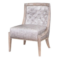Four Hands - Monroe Occasional Chair - Simple elegance and romance defines the Kensington collection. Each piece is hand-made of Oak, crafted with soft curves and detailed carving. Rich color and texture bring sophistication to the classic shapes in this collection. Kensington offers clean lines, efficient design and economical sizing.