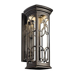 "Kichler - Kichler 49228OZLED Franceasi 22"" Energy Efficient LED Outdoor Wall Light - Kichler 49228 Franceasi LED Outdoor Wall Lantern"