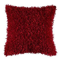 """Shag Red 18"""" x 18"""" Pillow  Set of 2 - *18"""" x 18"""" Pillow with Hidden Zipper"""