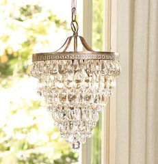 Clarissa Glass Drop Chandelier | Pottery Barn