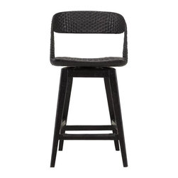 Stanley Furniture - Archipelago-Tambu Counter Stool - Woven materials says Caribbean, and our Tambu Counter Stool proudly expresses just how attractive natural fibers can be.  A swivel seat makes it easy to flow with the breezes, and conversations, seaside or barside.