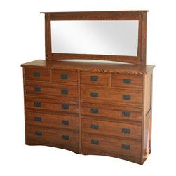 SOLD OUT!  Craftsman Style 12 Drawer Dresser with Mirror - $2,485 Est. Retail - -