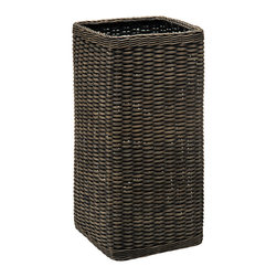 Kouboo - Wicker Umbrella Stand Holder - Be prepared for the rainy days and make sure those dripping umbrellas have an umbrella stand to go into. This hand woven piece will prove to be a useful add-on to your foyer.1 year limited warranty.