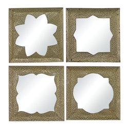 Sterling Industries - Sterling Industries 138-065/S4 Pine Island-Set Of 4 Moroccan Motif  Mirrors - Mirror (4)
