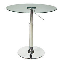 Standard Furniture - Standard Furniture Round Glass Top Dining Table with Adjustable Pedestal Base - Cosmo presents a dynamic new concept for casual dining that's all about function and versatility paired with modern urban styling.